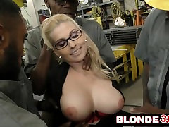 Horny Big Tit Boss Christie Stevens Takes On Many Big Black Cocks