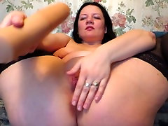 mature woman with big tits, fucking with big dildo!