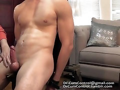 Asian cums 7 times during edging after saving his load for 28 days