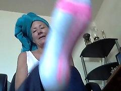 Mature lady sexy socks