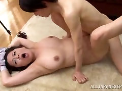 Busty Asian With Perky Nipples Fucked On The Floor
