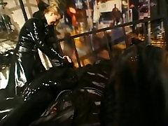Rubber fetish bondage