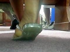 Candid Beautiful Ebony Feet in ChurchCut Ver.