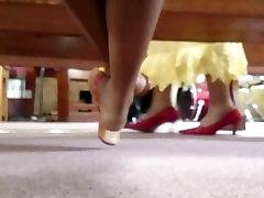 Candid Beautiful Ebony Feet in Church 2