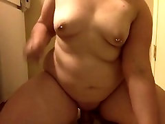 Chubby Slut Plays With Thick Dildo