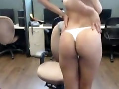 Amazing Indian Big Boobs Brunette Strips And Rubs Her Pussy At Work Office