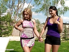 Hot lesbians Salome and Sascha have hot sex in the sun on Sapphic Erotica