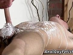 Muscle male bondage and male bondage medical gay Brit twink Oli Jay is