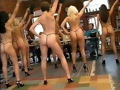 Karen White and other girls dance naked for guys
