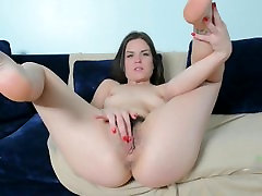 HAIRY MASTURBATION ON THE COUCH