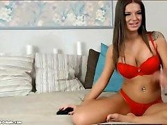 hot big titted webcam girl smoking