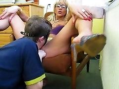 Russian Guy Lick Mature Mistress Pussy