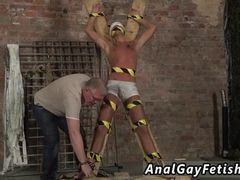 Gay slave bondage Slave Boy Made To Squirt