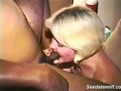 Vintage mature wife sucking off huge BBC