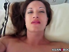 Busty asian gets creampied