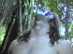 Slut gets anal sex gangbang outdoors