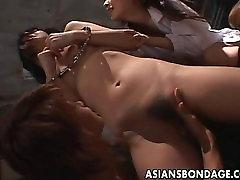 Japanese lesbian sluts enjoy a kinky bondage