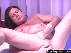 Find her on BONDAGE-DOM.COM - woman fuck and fist a man and a CD