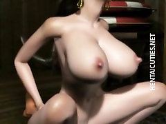 Horny 3D hentai girl gets pussy jizzed
