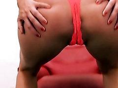 Busty Blonde Has Big Round Ass. Hot Body! Lingerie n High Heels.