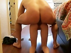 Amateur Fucks His Shaved Pregnant Wife Anal