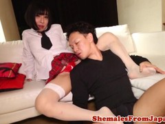 Japanese newhalf amateur sucked before anal