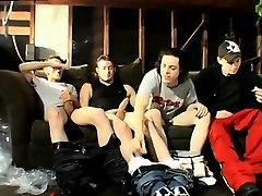 Blonde guys young on boxers gay Garage Smoke Orgy