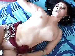 Indian sex goddess with a beautiful set of big tits loves missionary position