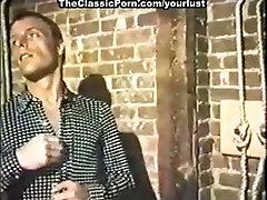 Lustful nympho gets nailed hard in vintage porn scene