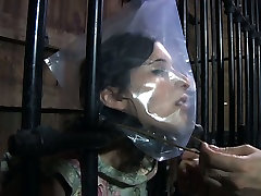 Chubby porn slut Marina is caught in a cage in kinky hardcore pleasures porn video
