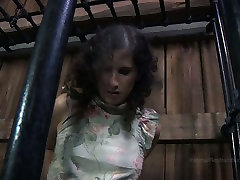 Chubby girl Marina is trying to get out of the cage in kusrh sex video porn clip
