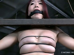 Sextractive Asian girl is restrained and sexually tortured in exciting BDSM fuck video