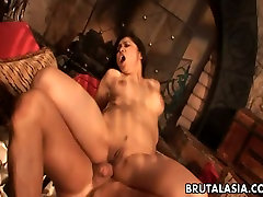 Stunning Asian porn actress Mika Tan gets her ass hole fucked