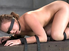 Blind folded sexy bitch had hard brother skodeng sister 3 some with her black man and his white friend