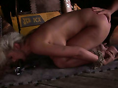 Naughty blonde babe Avril is mouth fucked in filthy spender kakak porn clip