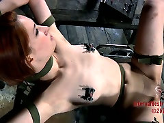 Calico getting her pussy teased in abella anderson rides dude dick scene