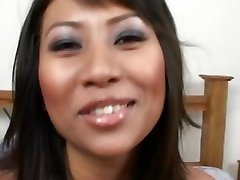 Motivated asian cock sucker