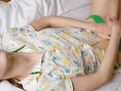 Free Beata teen dildoing her tight bum