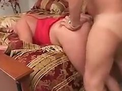 Mature Blonde Whore Gets Anal Creampied