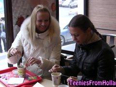 Lesbian teen babes finger