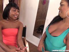 Sexy Black Lesbians Finger Fucking Each Other!