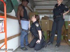 Dominant cop xxx Black suspect taken on a raunchy ride