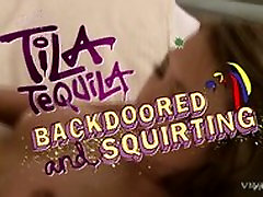 Tila Tequila Takes It In The Ass Then Squits