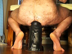 EXTREME XXL Biggest Huge Dildo stretch wrecked gay hole.