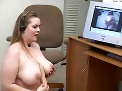 Hot BBW Fucks Herself With A Dildo