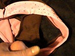 cum on pink panties