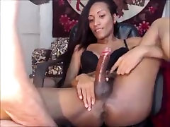 Guy gives an amazing handjob to a tranny.