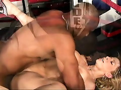 Big boobed MILF goes for a black dick in her mouth and up her cootch