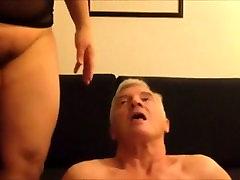 Asian mature lady receiving oral pleasure