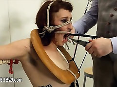 Extreme BDSM toilet slut penetrated anally hard